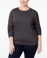 Karen Scott Plus Size Fleece Sweatshirt, Only at Macy's