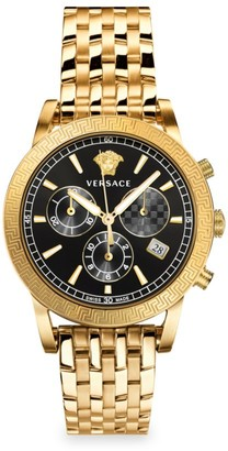 Versace Sport Tech Chronograph Gold-Tone Stainless Steel Watch