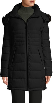 Calvin Klein Faux Fur Hooded Puffer Coat