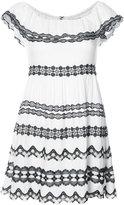 Alice + Olivia Alice+Olivia - crochet trim mini dress - women - Polyester/Spandex/Elastane/Viscose - 2