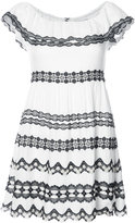 Alice + Olivia Alice+Olivia - crochet trim mini dress - women - Polyester/Spandex/Elastane/Viscose - 6