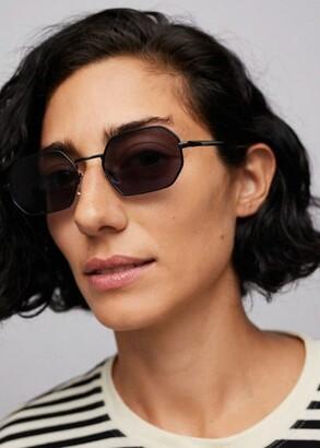 MANGO Hexagonal frame sunglasses