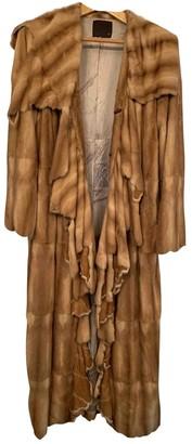 Fendi Beige Fur Coat for Women