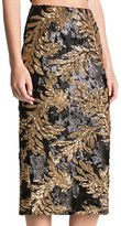 Dress the Population Sasha Two-Toned Sequin Midi Skirt