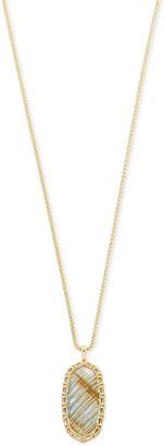 Kendra Scott Macrame Reid Gold Long Pendant Necklace