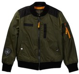Urban Republic Poly Twill Bomber Jacket with Aviator Patches (Big Boys)