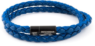 Tateossian Men's Braided Double-Wrap Bracelet, Size L