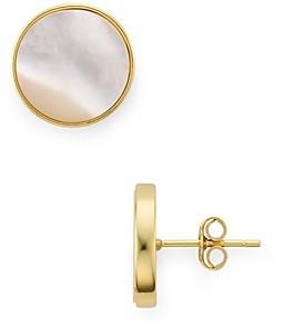 Argentovivo Disk Stud Earrings