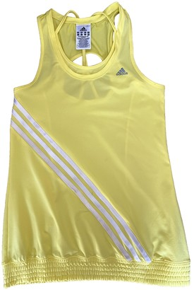 adidas Yellow Polyester Tops