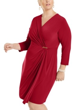 Charter Club Plus Size Surplice Crossover Dress, Created for Macy's