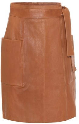 STOULS April leather wrap skirt