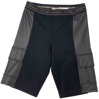 KENDALL + KYLIE Black Cloth Shorts for Women