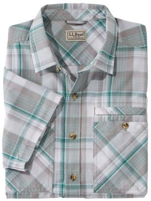 L.L. Bean Otter Cliff Short-Sleeve Shirt, Plaid