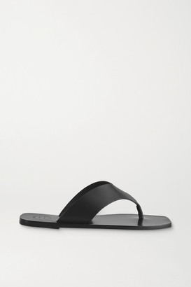 ATP ATELIER Merine Leather Flip Flops - Black