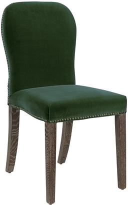 OKA Stafford Velvet Chair - Moss