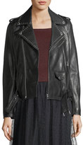 RED Valentino Studded Lambskin Leather Jacket