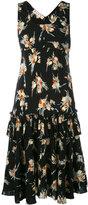 Marni Rustle print ruffle print dress - women - Silk - 40