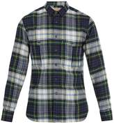Burberry Point-collar checked wool shirt