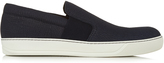 Lanvin Slip-on grained-leather trainers
