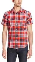 Lucky Brand Men's Short-Sleeve One Pocket Flap Shirt