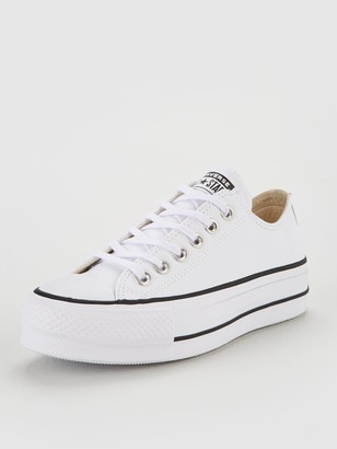 Converse Chuck Taylor All Star PlatformLift Clean Leather Ox - White