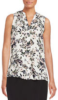 Lord & Taylor Abstract Floral Blouse