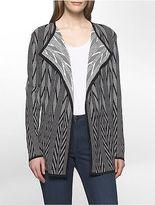 Calvin Klein Womens Jacquard Flyaway Sweater