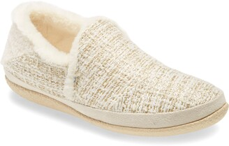 Toms India Metallic Faux Fur Slipper
