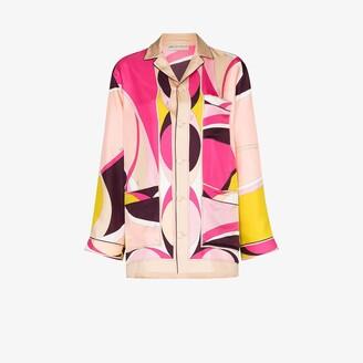 Emilio Pucci X Browns 50 Ellisse print silk shirt