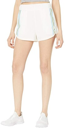 FP Movement Grand Slam Shorts Striped (White Combo) Women's Clothing