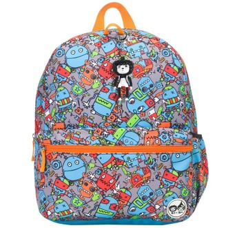 "Babymel Zip & Zoe Junior 15"" Kid' Backpack - Robot"