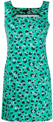 Love Moschino Leopard Print Shift Dress