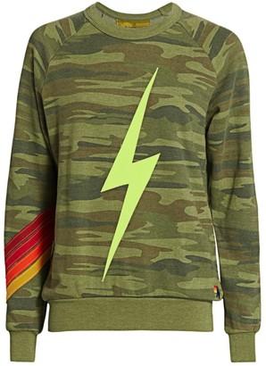 Aviator Nation Camo Bolt Stitch Chevron Sweatshirt