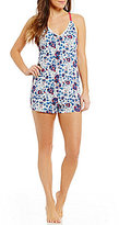 Lucky Brand Floral Jersey Lounge Romper