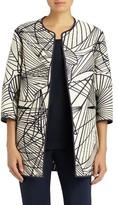 Lafayette 148 New York Women's Darby Spiraling Jacquard Reversible Jacket