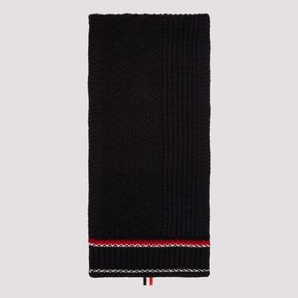 Thom Browne 4-Bar Detailed Intarsia Knit Scarf