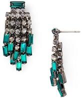Aqua Indiana Fringe Stud Earrings