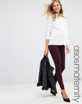 Asos Rivington Denim Jegging in Oxblood with Under the Bump Waistband