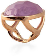 Alex Fraga 24K Gold and Sterling Silver Amethyst Ring