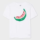 Paul Smith Women's White 'Watermelon' Print Cotton T-Shirt