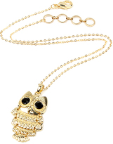 Amrita Singh Austrian Crystal & Goldtone Harry Owl Pendant Necklace