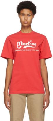 Martine Rose Red Phonox T-Shirt