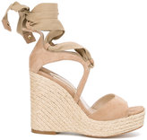 Paloma Barceló Fay wedged sandals - women - Raffia/Leather/Suede - 40