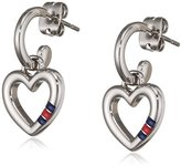 Tommy Hilfiger Women's Stainless-Steel Earrings with X and O Hanging Charms