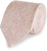 Reiss Creston - Melange Silk Tie in Pink, Mens