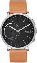 Skagen Unisex Hagen Tan Leather Strap Hybrid Smart Watch 42mm SKT1104