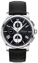 Montblanc 115123 4810 Chronograph Leather Strap Watch, Black