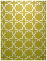 Cornermill Juliana Wool Kilim Rug, Bumbo Yellow 160 x 230 cm