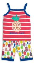 Hatley Toddler's, Little Girl's & Girl's Two-Piece Pineapple Printed Tank & Shorts Pajama Set
