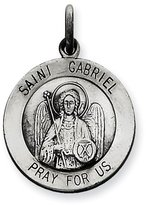 1928 Gold and Watches Sterling Silver Antiqued Saint Gabriel Medal